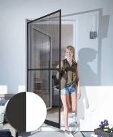 Schellenberg Insektenschutz Tür Basic100 x 210 cm in Weiß oder Braun, geteilt