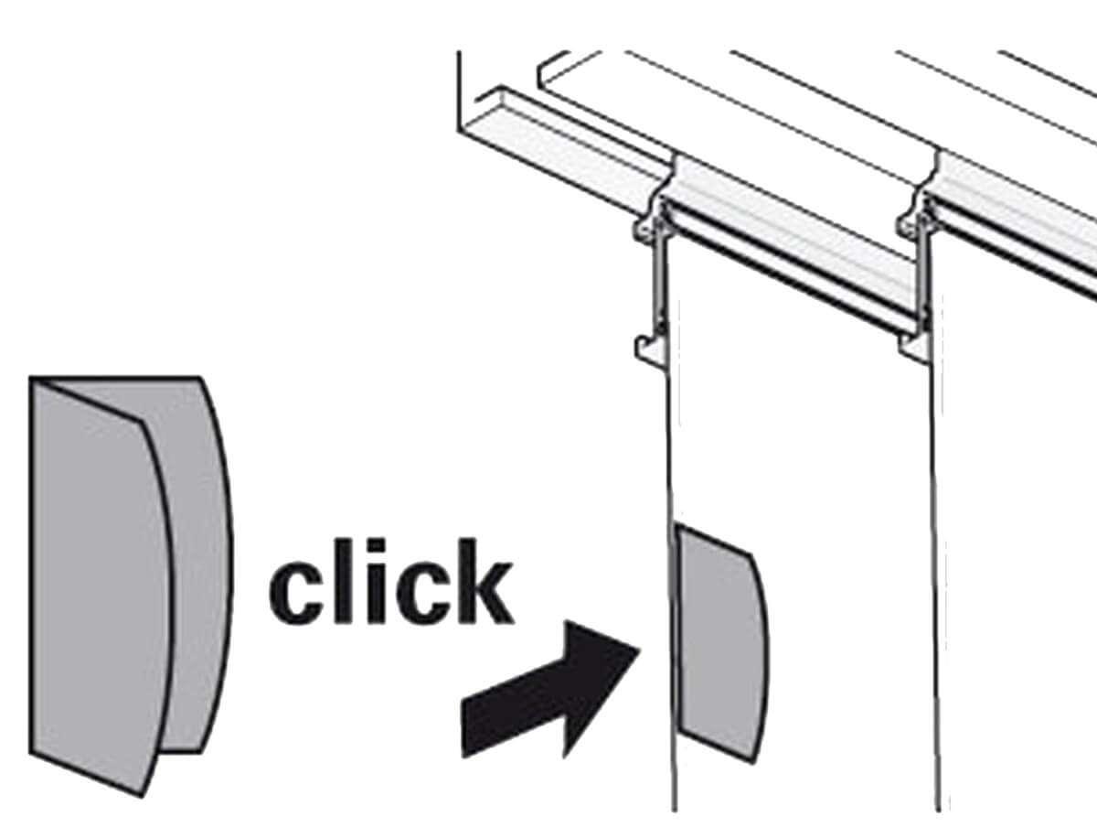 Magnet Clip Weiß | Magnetischer Flächenvorhang Griff | Markenbaumarkt24