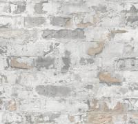 Livingwalls Grau Stein Shabby Chic Vliestapete Metropolitan Stories 369292