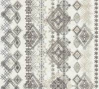 AS Creation Vliestapete Boho Love Grau-Beige, Karo Muster,364662 Tapete