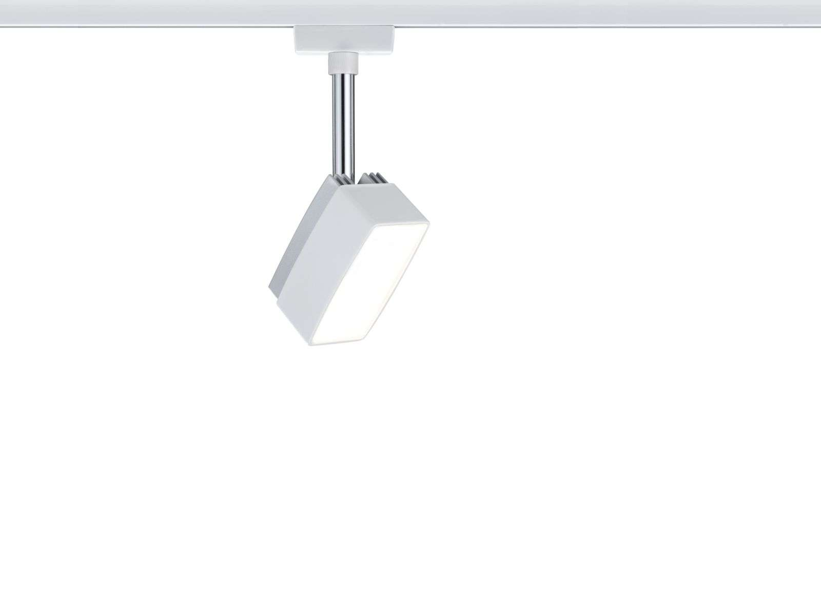 URail Systemleuchte Light/&Easy LED Spot Quad 1x3W GU10 Chrom matt//Weiß 230V Meta