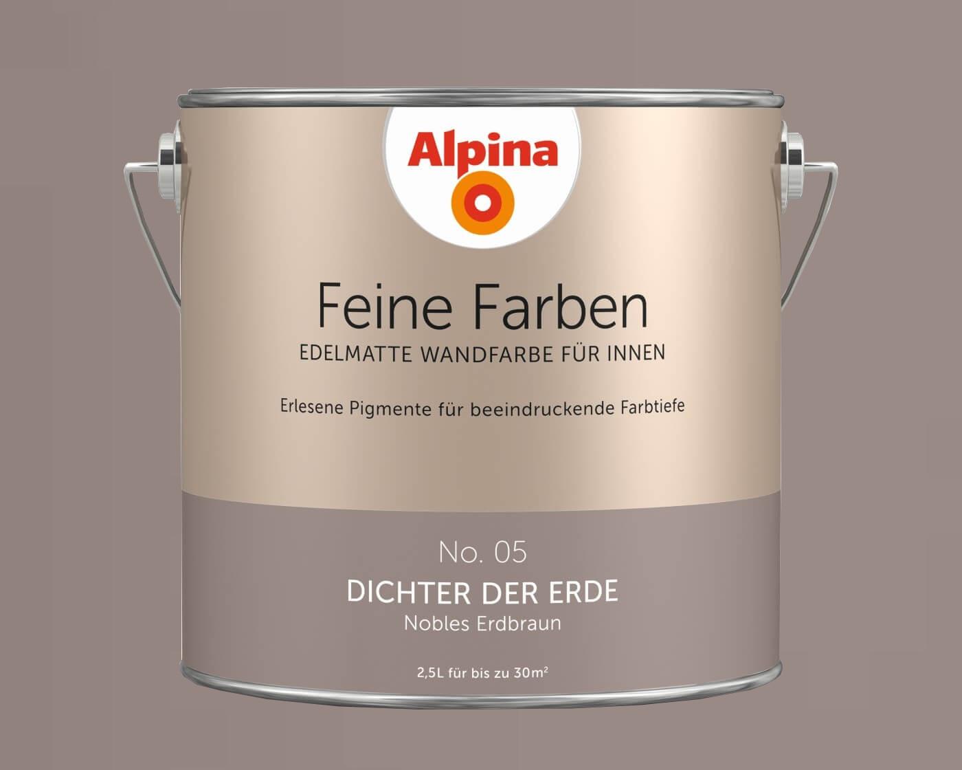 alpina feine farben edelmatte wandfarbe f r innen alle farbt ne 2 5l dose. Black Bedroom Furniture Sets. Home Design Ideas