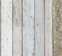 AS Creation Tapete | Holzoptik Beige Blau Braun | Il Decoro