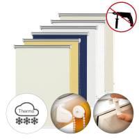 Gardinia Seitenzug-Rollo Thermo | Hitze- & Kälte-Schutz ohne Bohren | Energiesparend Energiesparendes Thermo Seitenzug-Rollo