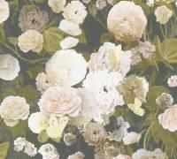 Livingwalls Schwarz Blumen Vintage Vliestapete Paradise Garden 367171