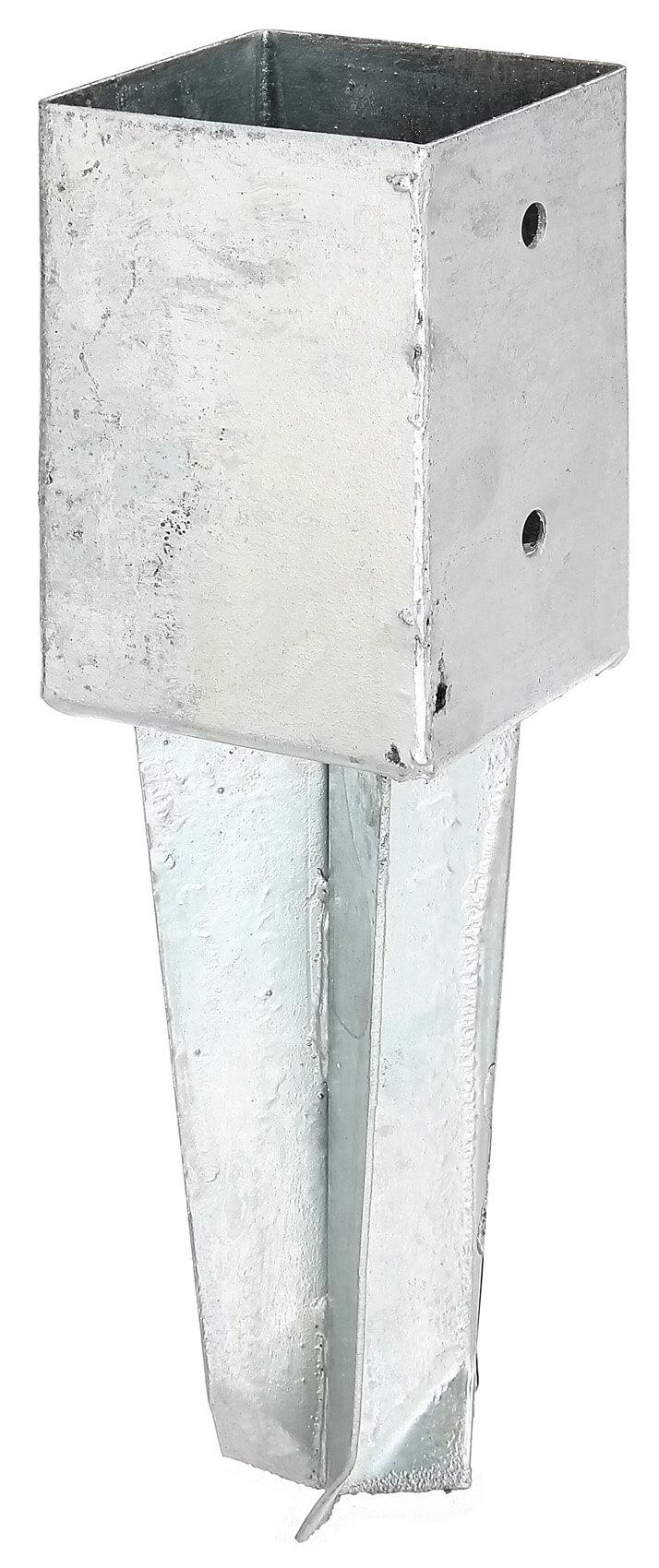 bodenh lse f vierkantpf feuerverzinkt zum einbetonieren 91x91 markenbaumarkt24. Black Bedroom Furniture Sets. Home Design Ideas