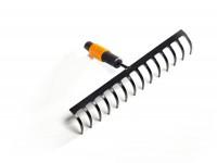 Fiskars QuikFit Rechen mit 14 Stahl-Zinken   Werkzeugkopf zum Haken & Glätten von Beeten QuikFit - Rasenpflege