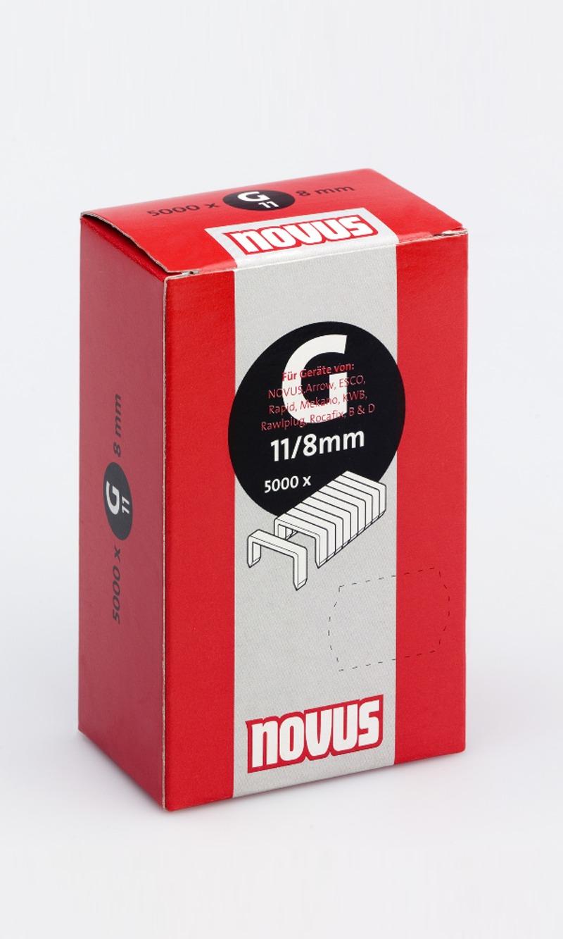 Novus Flachdrahtklammer Typ G 11//12-600 Stück