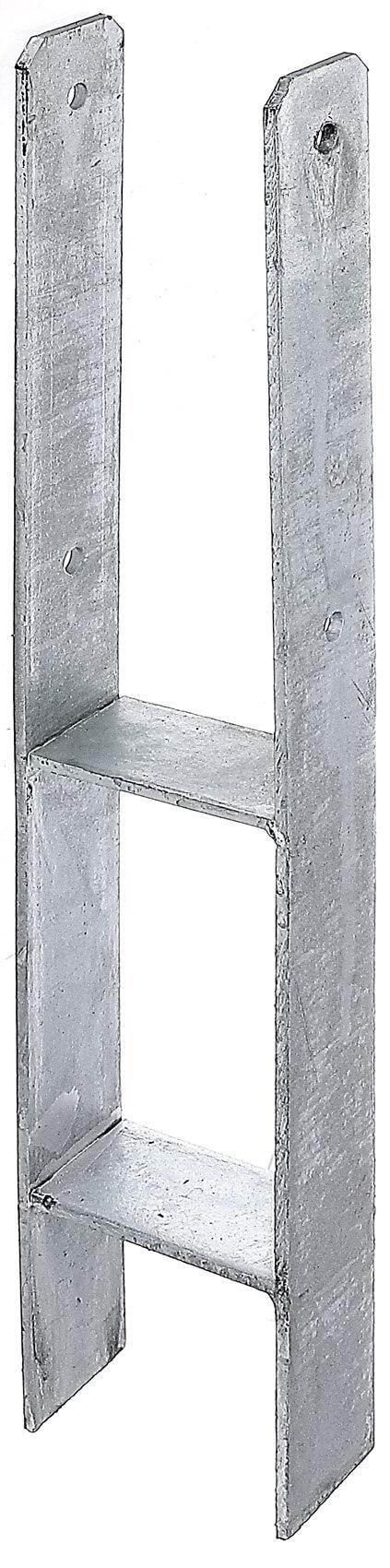 h pfostentr ger typ365v feuerverzinkt zum einbetonieren 101x600 6. Black Bedroom Furniture Sets. Home Design Ideas