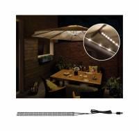 Paulmann Mobile Strip Parasol Schirm-Beleuchtung IP44 4er-Set, 4x40cm, Sonnenschirm-LED-Stripes