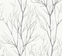 AS Creation Tapete Blooming Grau Schwarz Metallic   Waltdapete
