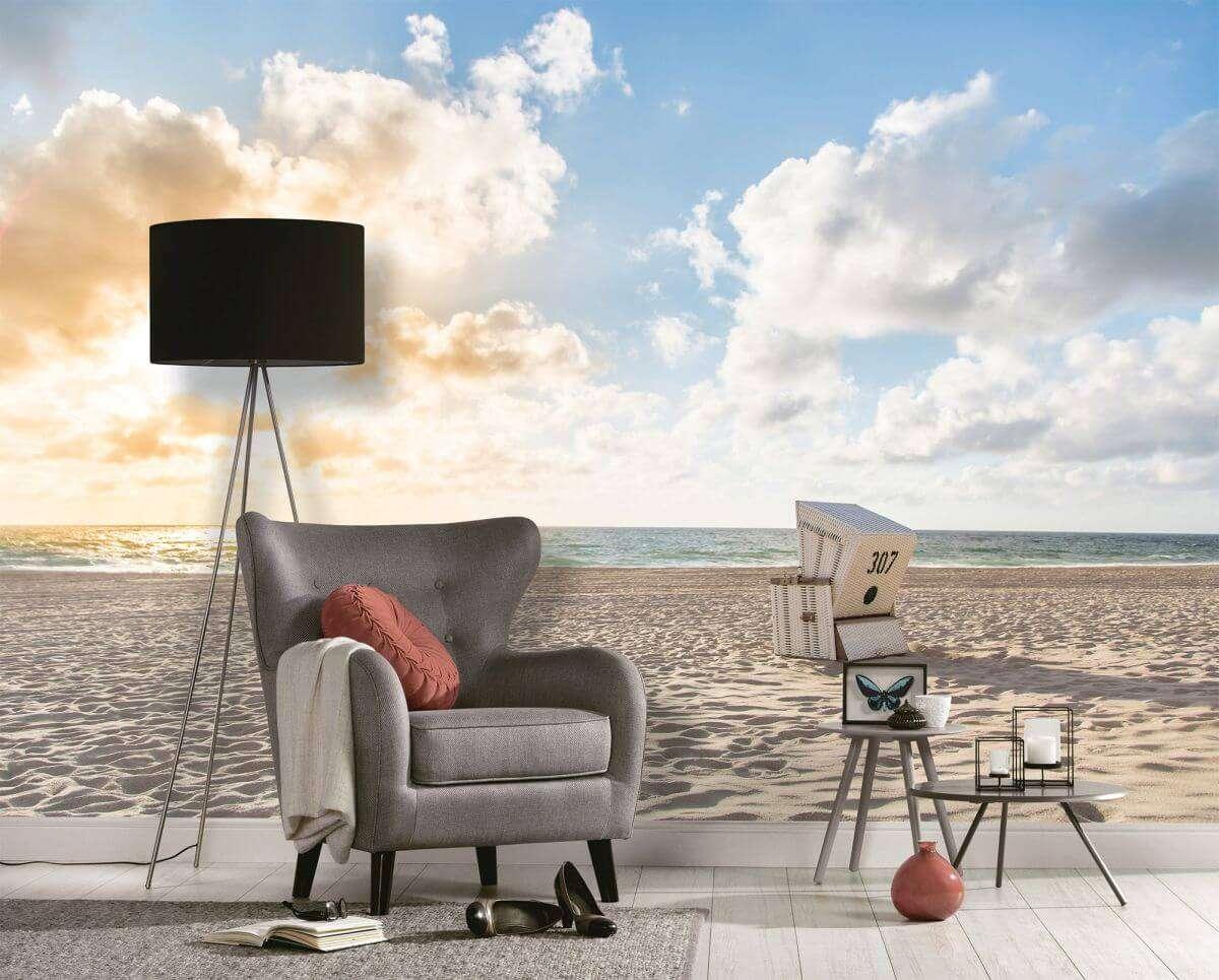 as creation designwalls beach chair natur fototapete