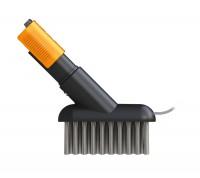Fiskars QuikFit Fugenbürste mit Kratz-Klinge   Steck-Werkzeugkopf QuikFit - Bodenpflege