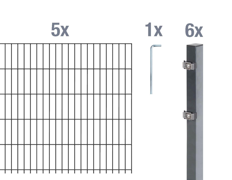 Lieferumfang 10 m Zaunlänge