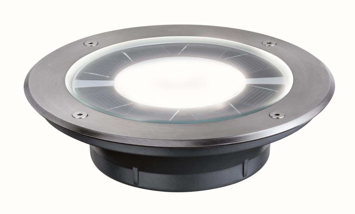 paulmann solar einbauleuchte pandora solar edelstahl ip67 0 36 w licht ohne kabel. Black Bedroom Furniture Sets. Home Design Ideas