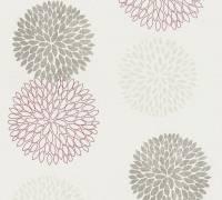 AS Creation Tapete Blooming Metallic Creme Rot   Blumentapete   Floral