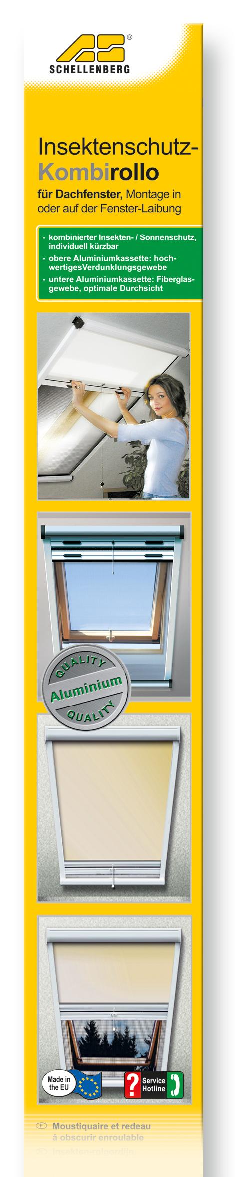 schellenberg kombirollo dachfenster 70x140 90x170 120x160cm wei beige blau neu ebay. Black Bedroom Furniture Sets. Home Design Ideas