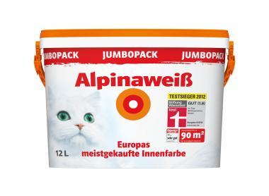 alpina wandfarbe 867174 alpinawei matt 12 liter 4 17 eur. Black Bedroom Furniture Sets. Home Design Ideas