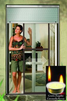 schellenberg 50745 insektenschutz schiebet r 120x240cm braun gratis kerze ebay. Black Bedroom Furniture Sets. Home Design Ideas