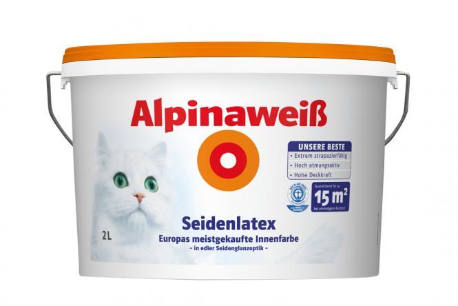 alpina wandfarbe 867177 alpinawei seidenlatex 2 liter 12. Black Bedroom Furniture Sets. Home Design Ideas
