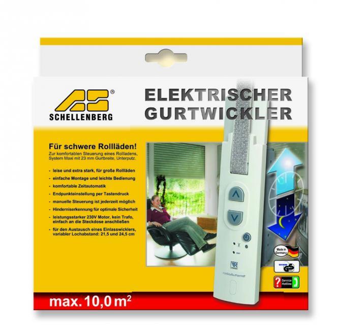 schellenberg 22502 elektrischer gurtwickler rolloautomat 10 0qm unterputz ebay. Black Bedroom Furniture Sets. Home Design Ideas